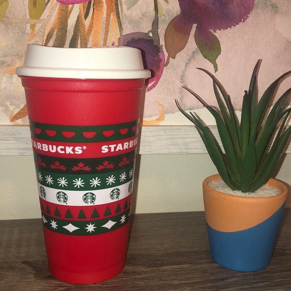 2020 Starbucks Red Holiday Reusable Red Coffee Cup